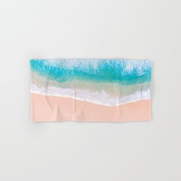 Ocean in Millennial Pink Hand & Bath Towel