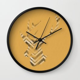 Vintage deer black Wall Clock