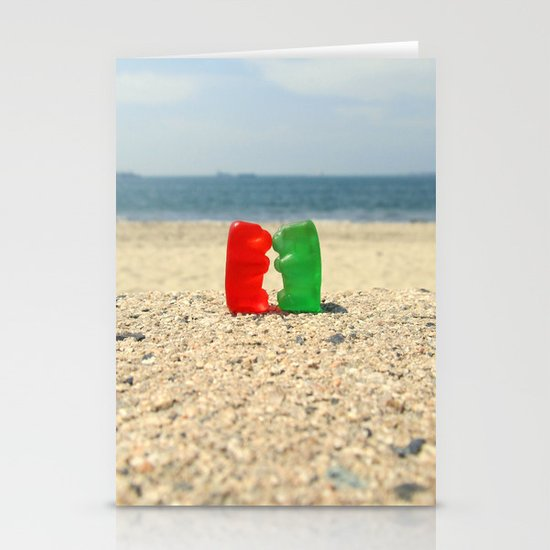 Gummy Bear Beach Kiss Stationery Cards
