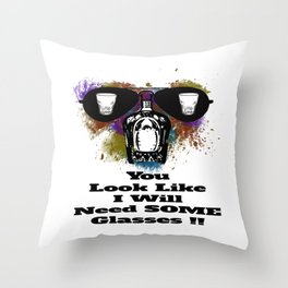 Drinks Up Throw Pillow