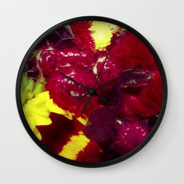 Sunflower and Cockscomb Wall Clock