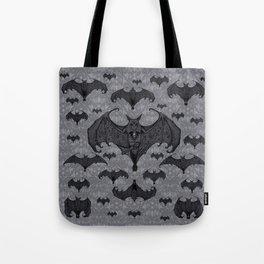 Balinese Bat - Haunted Mansion Damask Tote Bag