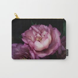 Hourly I sigh: dark pink peonies Carry-All Pouch