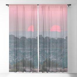 Otherworldly sunrise of Hampi, India Sheer Curtain