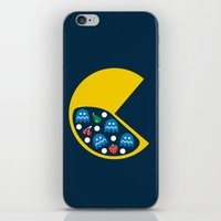 8 bit iPhone & iPod Skins featuring 8-Bit Breakfast by Byway