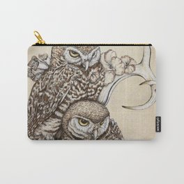 Duality - Two Burrowing Owls Carry-All Pouch
