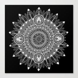 Black and White Mandala Canvas Print