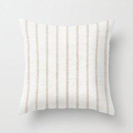 AEGEAN WIDE SPACED TICKING JUTE Throw Pillow
