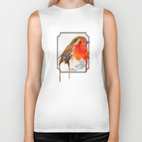 robin Biker Tanks featuring Robin by Paint the Moment