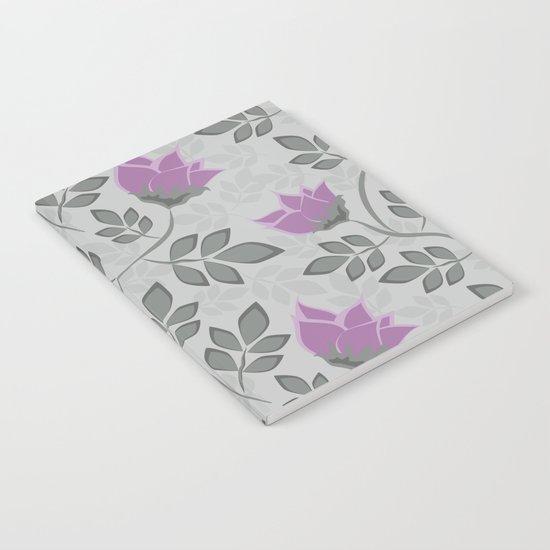 Liana purple flowers . Notebook