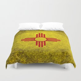 Flag of New Mexico - vintage retro style Duvet Cover