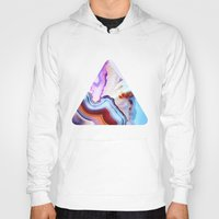 spring Hoodies featuring Agate, a vivid Metamorphic rock on Fire by Elena Kulikova