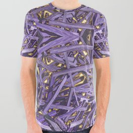 PURPLE KINDLING AND GLOWING EMBERS ABSTRACT All Over Graphic Tee