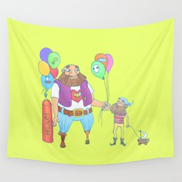 Kid pirate and huge pirate! Wall Tapestry