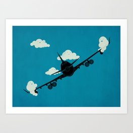 Seesaw in the Sky Art Print