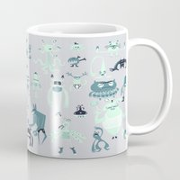 monsters Mugs featuring Monsters! by Fran Court