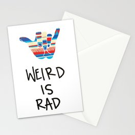 Weird is Rad Stationery Cards