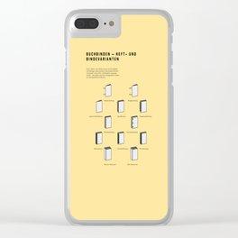 Buchbinden – Heft- und Bindevarianten Clear iPhone Case
