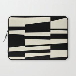 BW Oddities II - Black and White Mid Century Modern Geometric Abstract Laptop Sleeve