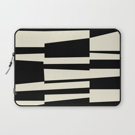 BW Oddities II - Black and White Mid Century Modern Geometric Abstract Laptop Sleeve