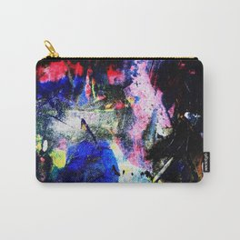 Abstract Black and Bright Carry-All Pouch