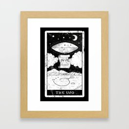'The UFO' Tarot Card Framed Art Print