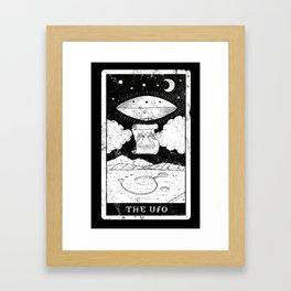 'The UFO' Tarot Card Framed Art Print