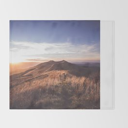 Dusk - Landscape and Nature Photography Throw Blanket