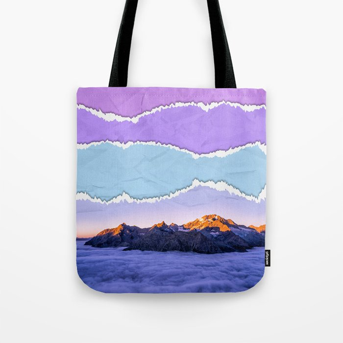 Mountain layers Tote Bag