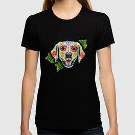 Golden Retriever - Day of the Dead Sugar Skull Dog T-shirt