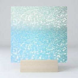 Mermaid Sea Foam Ocean Ombre Glitter Mini Art Print