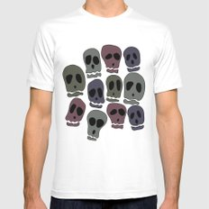 Skulls-2 Mens Fitted Tee White SMALL