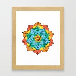 Bright Mandala Framed Art Print