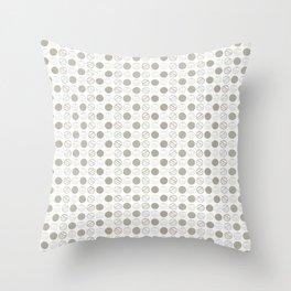 Dancing Grey Circles by Deirdre J Designs Throw Pillow
