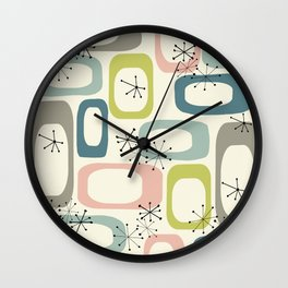 Mid Century Modern Shapes #society6 #buyart Wall Clock