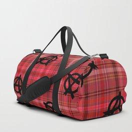 red plaid anarchy Duffle Bag