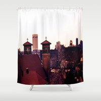cleveland Shower Curtains featuring Cleveland Religion by Toni Tylicki