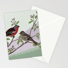 loving chaffinches Stationery Cards
