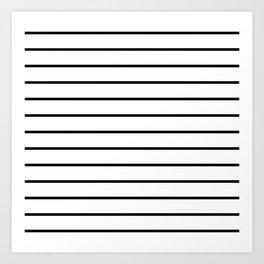 Minimalist Stripes Art Print