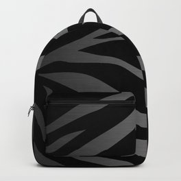 Black & Gray Metallic Zebra Print Backpack