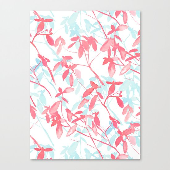 Premonition (Coral Mint) Canvas Print
