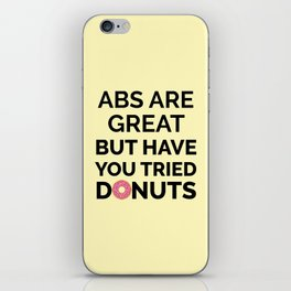 The Abs vs. Donuts Battle iPhone Skin