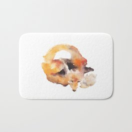 Watercolor Fox Bath Mat