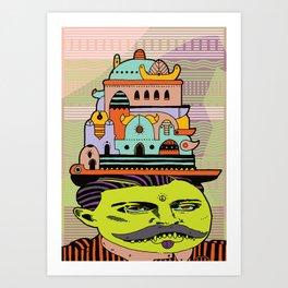 GLAD HATTER 4 Art Print