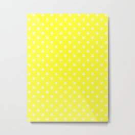 Cream Yellow on Electric Yellow Stars Metal Print
