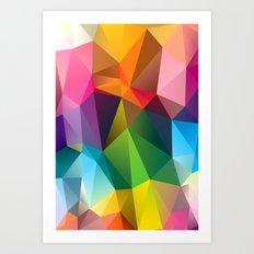 Geometric view Art Print