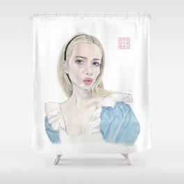 Alice in Selfie-land Shower Curtain