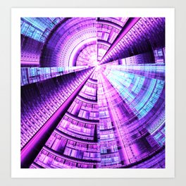 fractal: paint the future Art Print