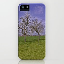 trees and fields near Laupheim iPhone Case