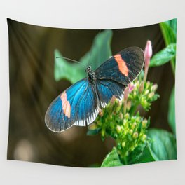 Small Black Postman Butterfly Wall Tapestry